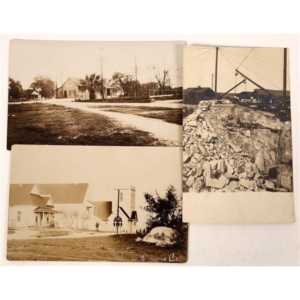 Rocklin / Loomis early RPC postcard Group  [130315]
