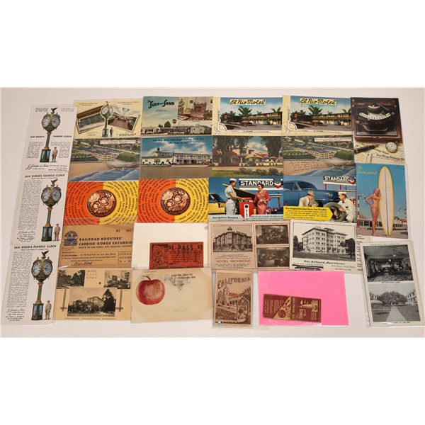San Diego, California Advertising Post Card Collection (25)  [138718]