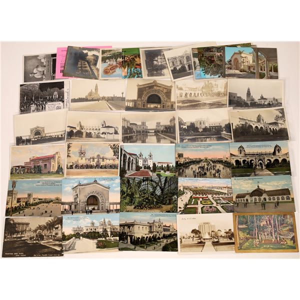 San Diego, California Expositions (1915-1916 & 1935-1936) Post Card Collection (38)  [138710]