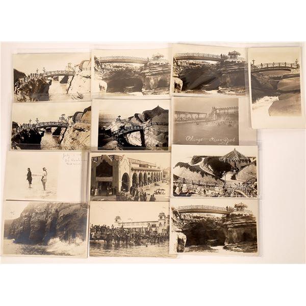 San Diego, California Ocean & Park RPC Postcard Collection (13)  [138709]