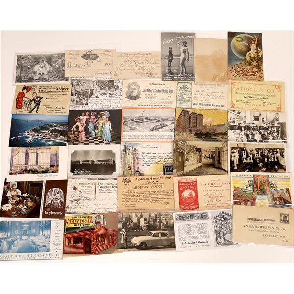 San Francisco Advertising Postcard Collection  [130382]
