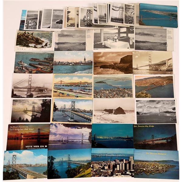 San Francisco Bay, Bridges, Ocean Scenes Post Card Collection (50)  [138715]