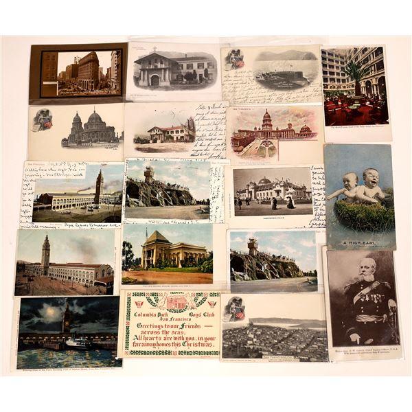 San Francisco Pioneer and No Split Back Postcard Collection  [130375]