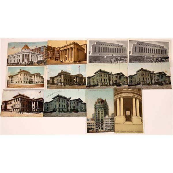 San Francisco Mint and Bank Postcard Group  [130372]