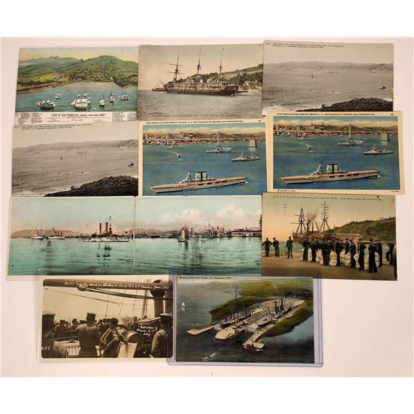 San Francisco Naval Ships Postcard Group  [130363]