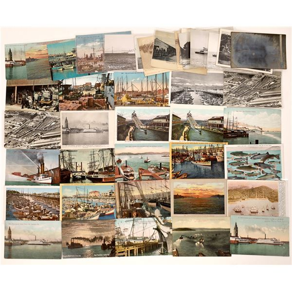 San Francisco Ships, Ferries, Harbors, Docks Post Card Collection (45)  [138716]