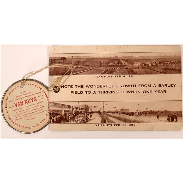 Van Nuys, CA Advertising Card  [139039]