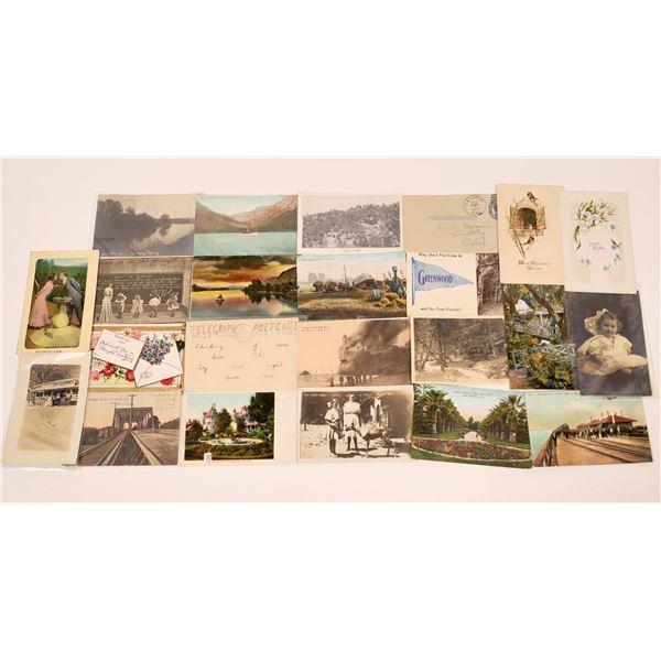 California Postcards with Nice Postmarks  [130393]