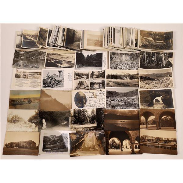 California RPPC Postcards Scenic Lot (120+)  [141144]