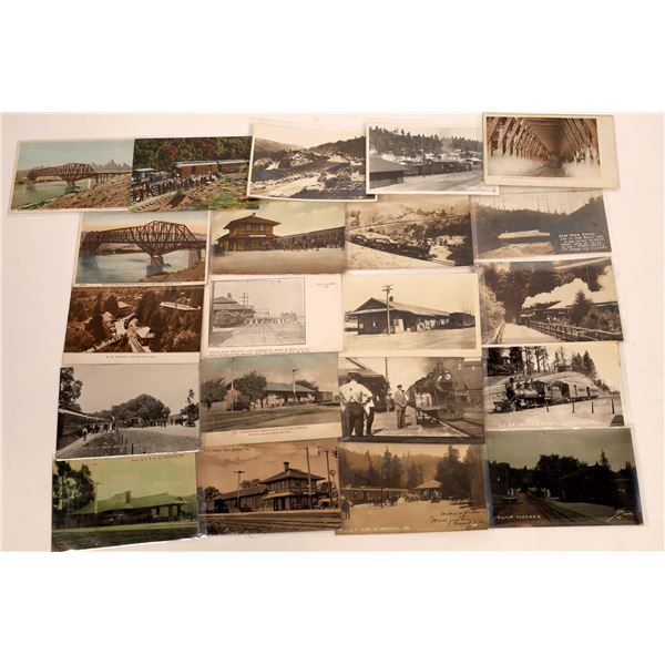 California Train Depot Post Card Collection (20)  [141148]