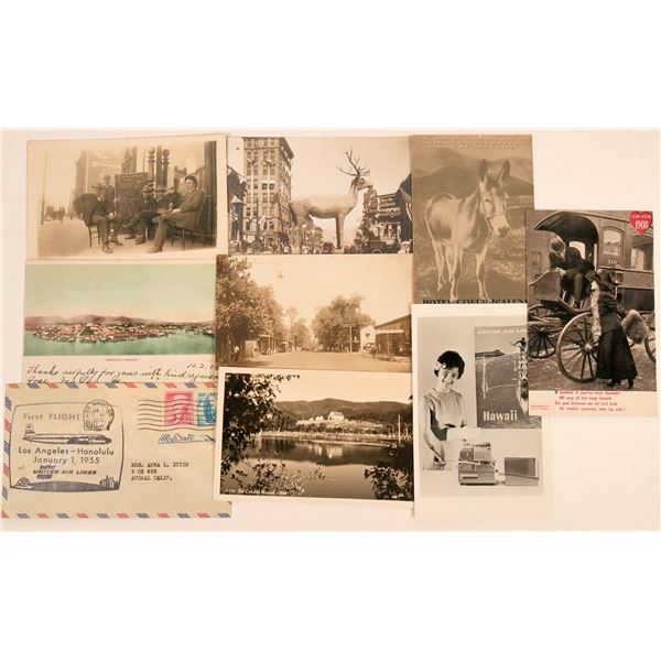 Postal Group of First Flight & Real Photo Postcards  [138203]