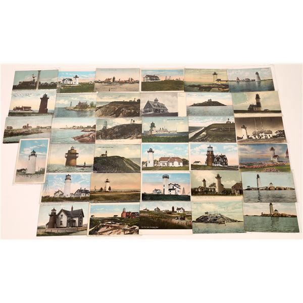 Early Color Lighthouse Postcards (35)  [139454]