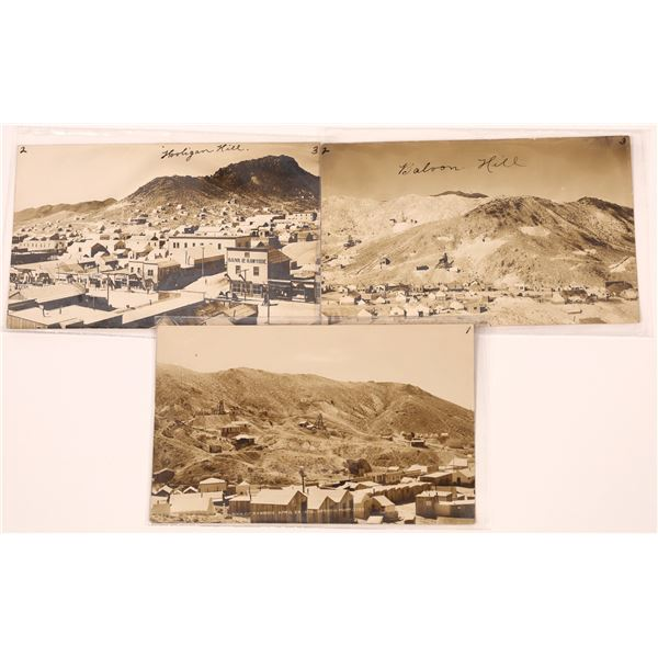 Early Real Photo Postcard Trio from Rawhide  [139459]