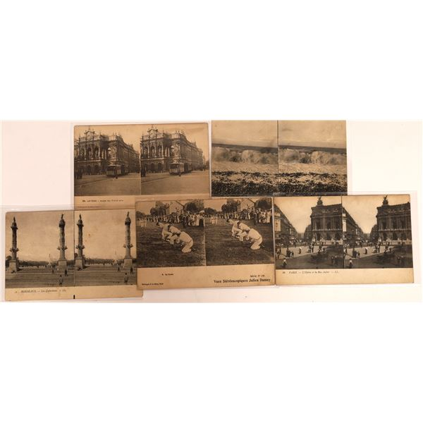 Very Rare Julien Damoy Stereoscopic Views Post Card Collection (5 pieces)  [138211]