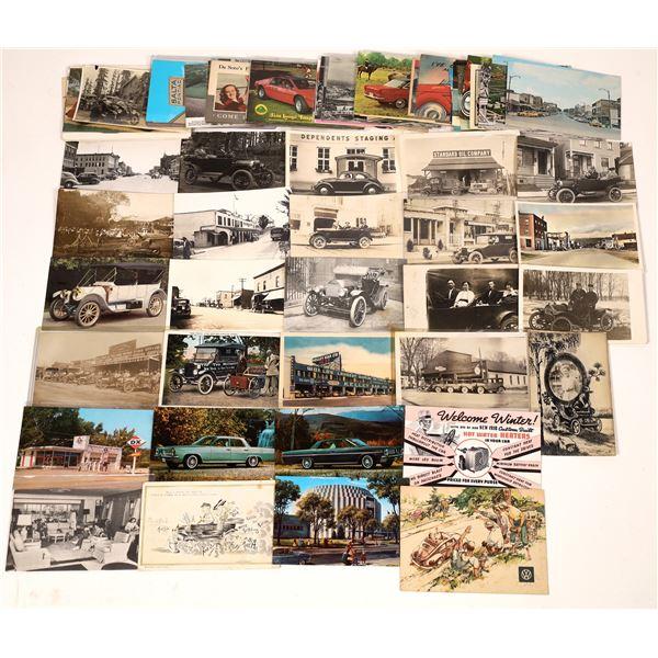 Automobile Postcard Collection – about 80  [139107]