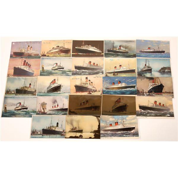 Cunard White Star Line Steamer Postcards (23)  [139461]