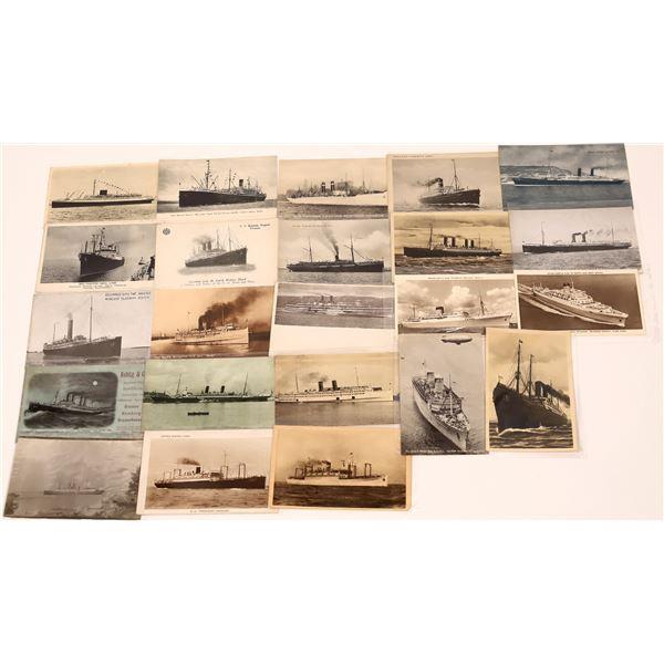 Early Passenger Steamship Postcards (23)  [139460]