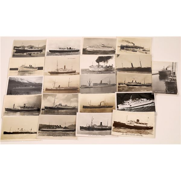 Real Photo U.S. & Foreign Steamship Postcards (21)  [139448]