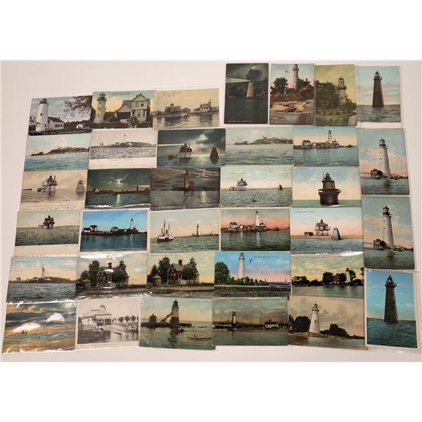 Early Lighthouse Postcard Collection (29)  [139455]
