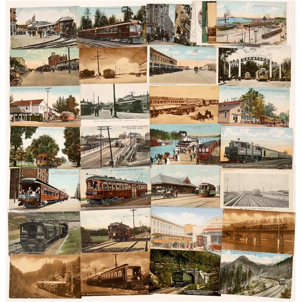 Electric Train Postcard Collection  [130344]