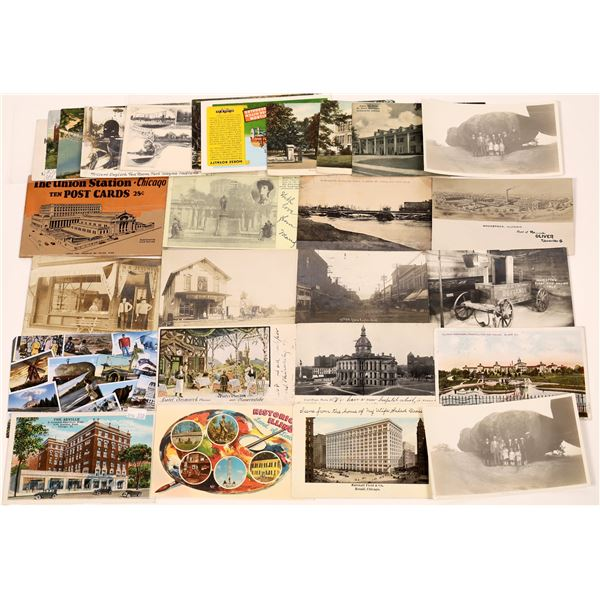 Midwest Postcard Collection: Indianapolis, Illinois and Ohio  [130418]