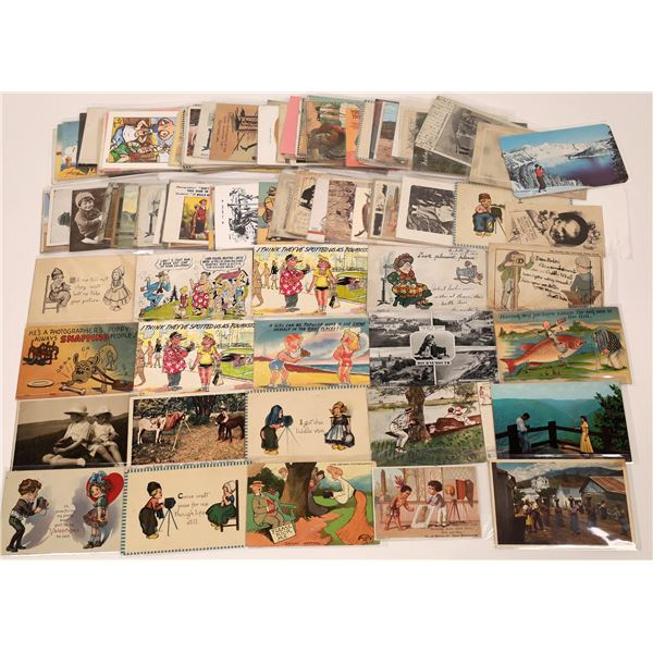 Postcard Collection: Postcards with Cameras or Pictures of People Taking Pictures  [139964]