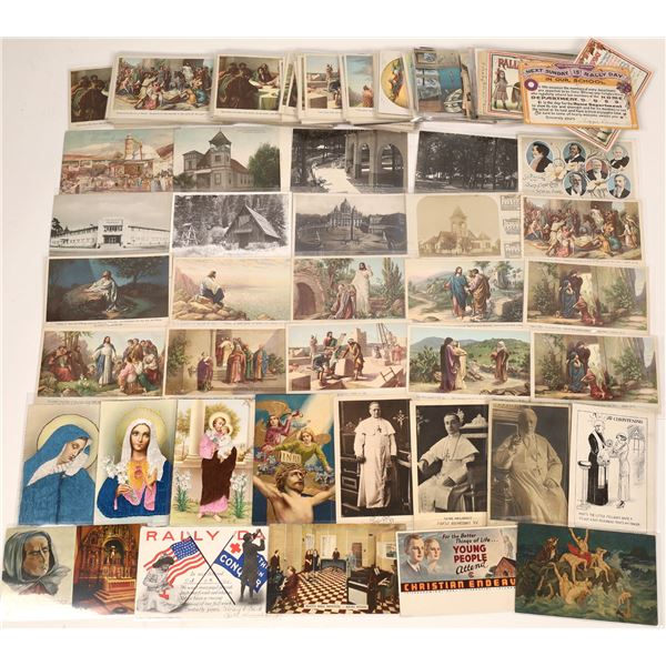 Religious Themed Postcard Collection  [139108]