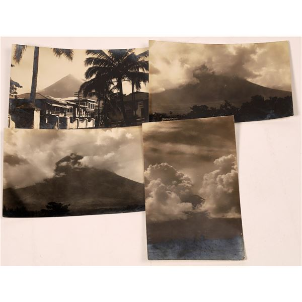 Volcano Exploding Real Photo Postcards  [139306]