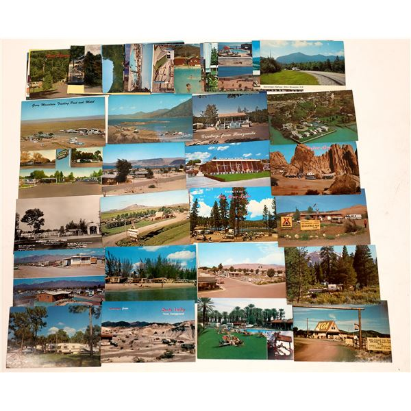 Campground Trailer Park Post Card Collection (45)  [141147]