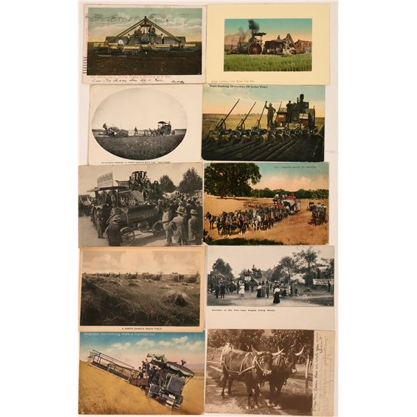 Farm Tractors Postcards (10)  [138204]