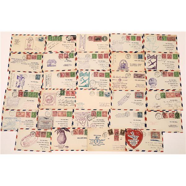 Airport & Air Tour Dedication Postmarked Envelopes (29)  [139291]