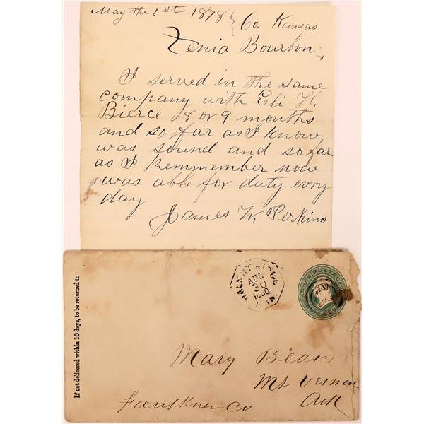 Handwritten Arkansas Letter & Cover  [140480]