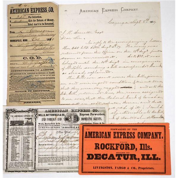 Group of American Express Ephemera  [118662]