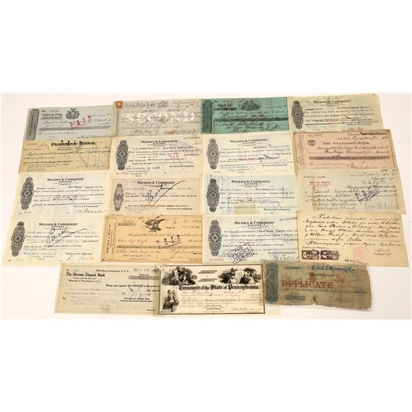 Wells Fargo Second of Exchange and Vintage Check Collection  [139191]