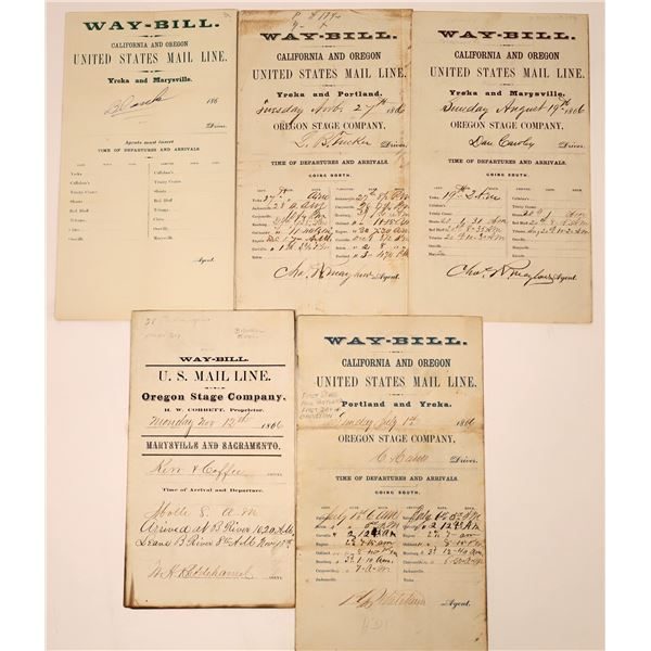 Oregon Stage Company United State Mail Line Waybills  [138476]
