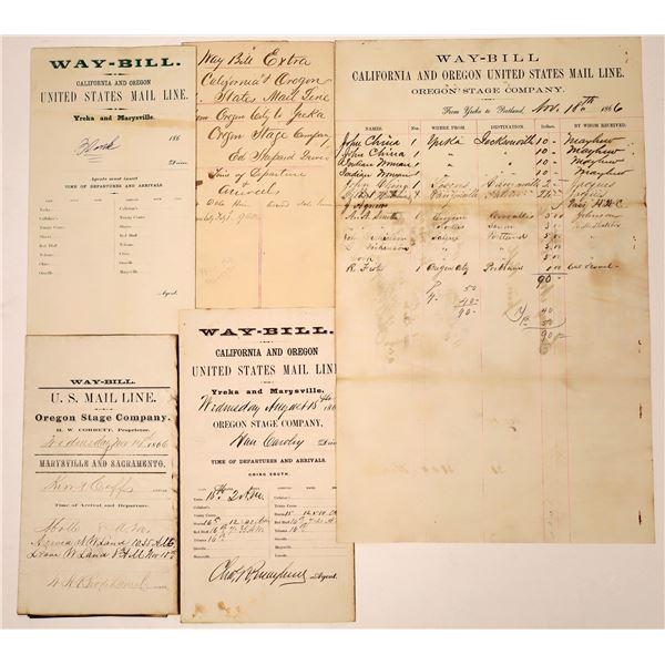 U.S. Mail Oregon Stage Company Waybills  [138465]