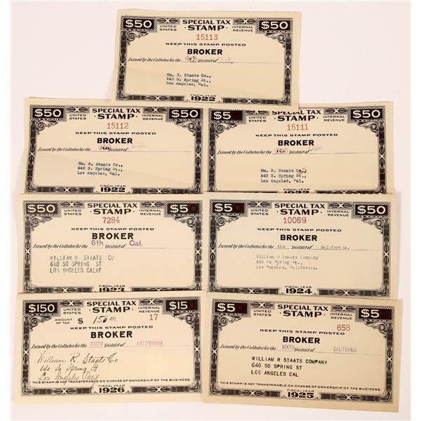 Revenue Stamps (7)  [139163]