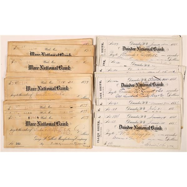 Imprinted Revenue Stamp Check Collection  [139249]