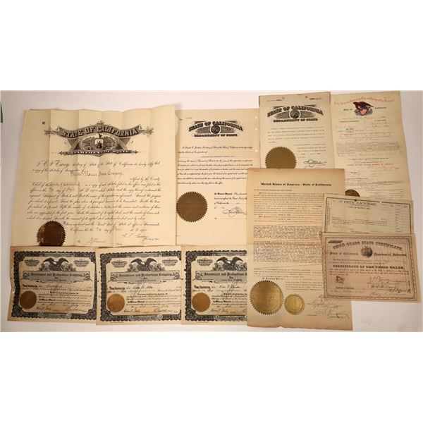California Official Certificates  [138467]