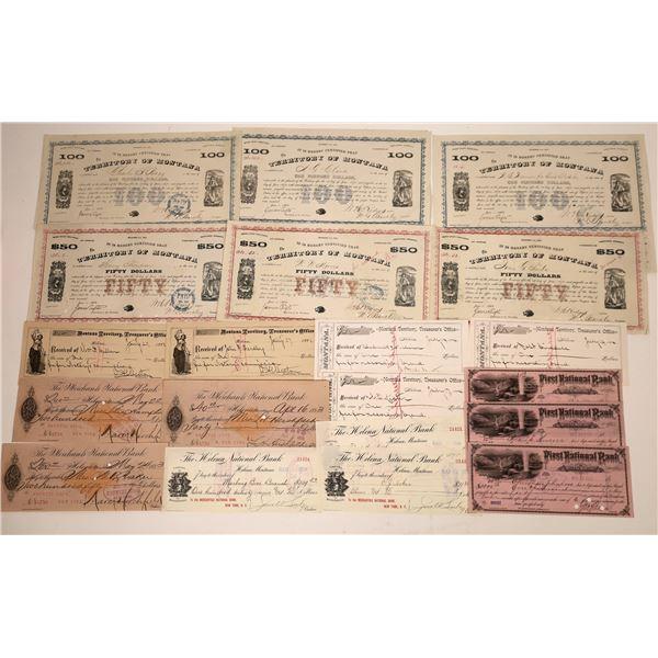 Montana Checks & Warrants Collection  [138477]