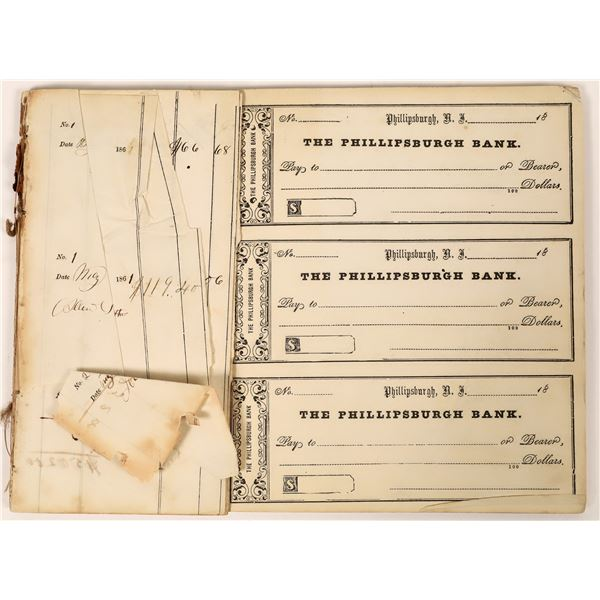Civil War Era Check Register from Phillipsburgh Bank  [139209]