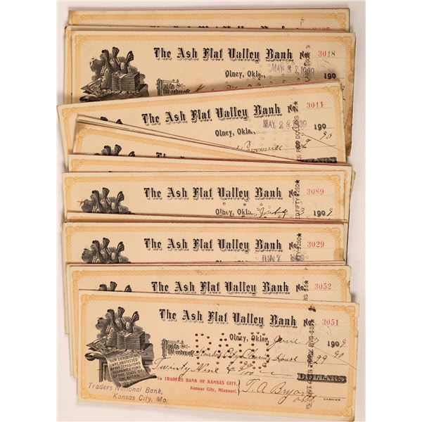 Ash Flat Valley Bank Checks with Bags of Money Vignette  [139240]