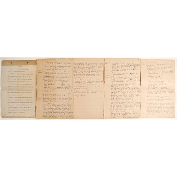 Sidney Gold Mining Co. Corporate Minutes, 1898  [62809]