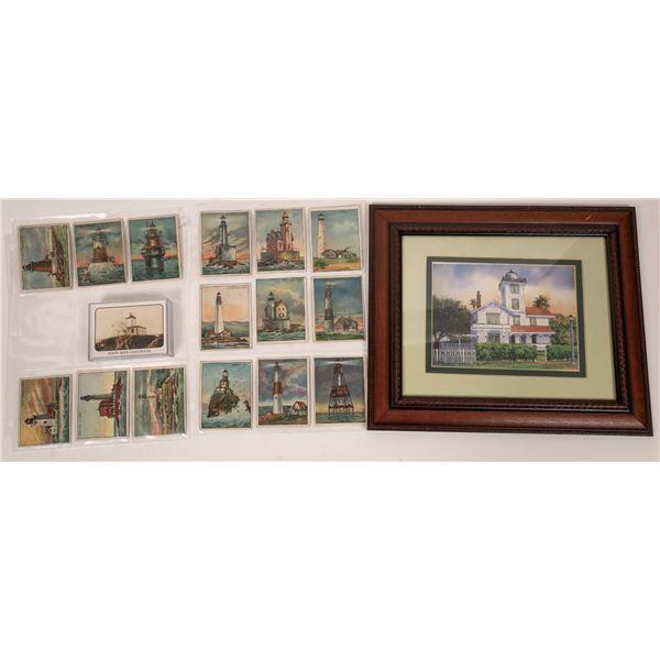 Lighthouse Trade Cards & Framed Print (3)  [139077]