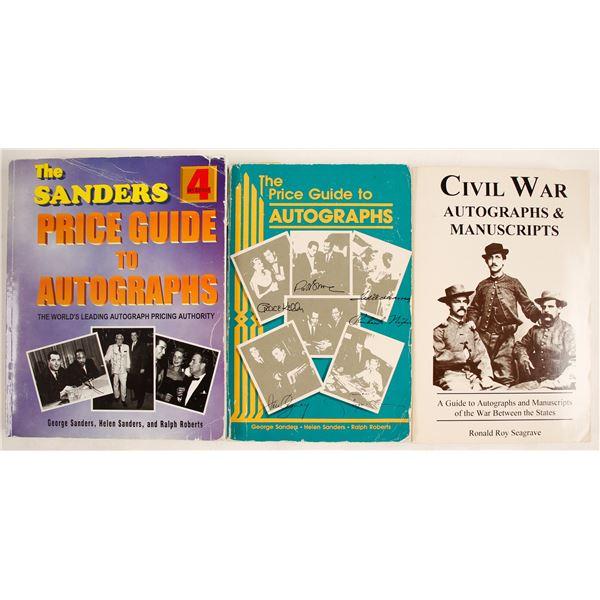 Autographs & Manuscripts, Price Guides  [138285]