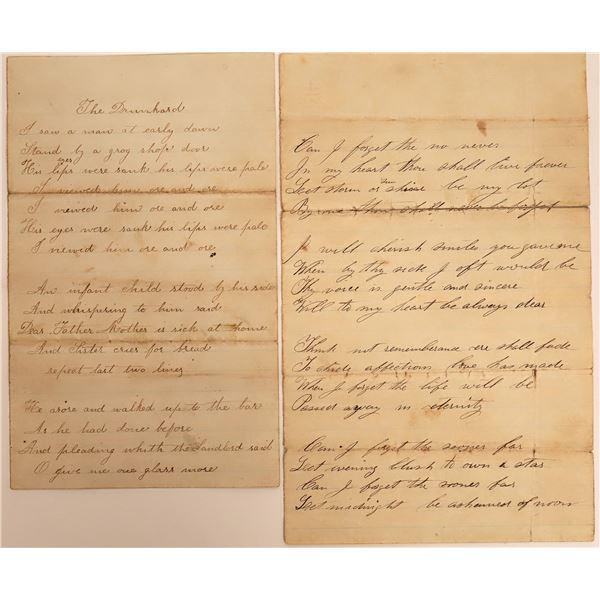 Nineteenth Century Poems Grouping  [130548]