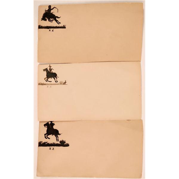 Three Pen & Ink Cowboy address envelopes  [137835]