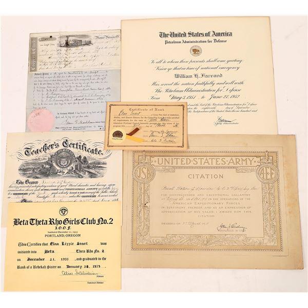 Various Ephemera from 1896 to 1950's (6)  [127020]