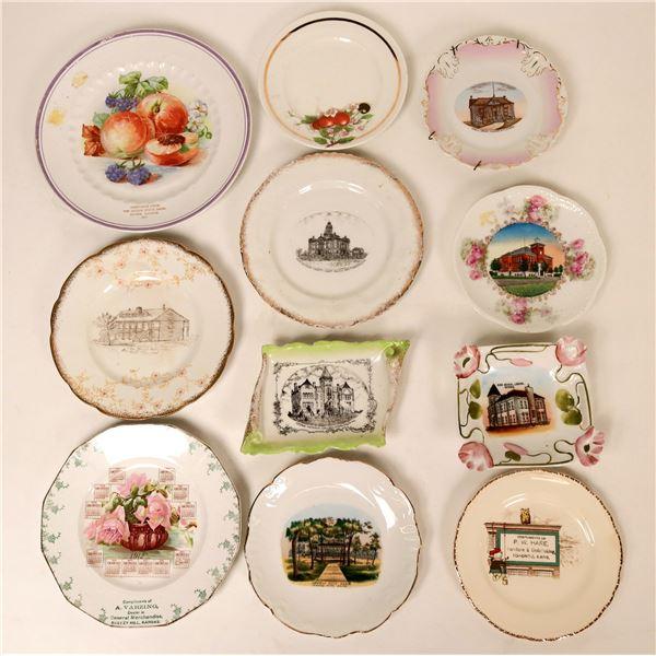 Souvenir Plate Collection, Kansas (11)  [138297]