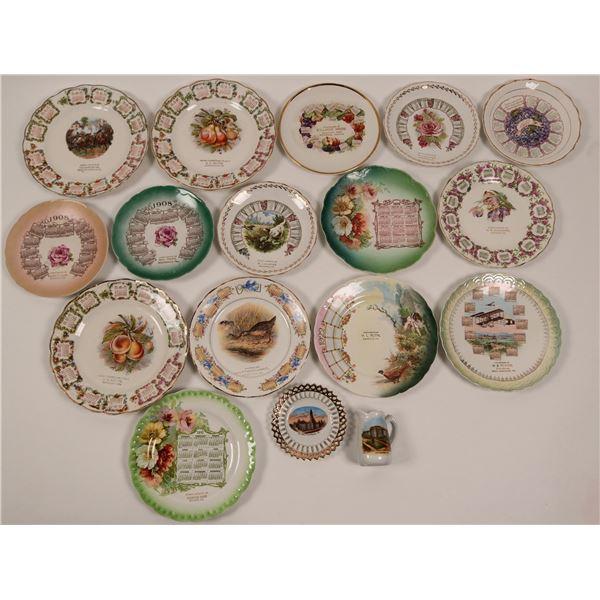 Large Group of Pennsylvania Calendar Plates  [138295]